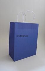 中號彩色牛皮紙袋-藍色