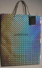 ex-large hologram paper bag-silver