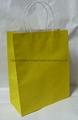 White kraft paper bag with twist