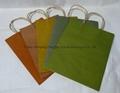 recycled brown paper twist bag-2
