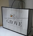 White kraft shopping bag with twist