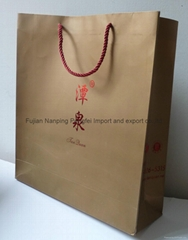 paper shopping bags with hotstamp