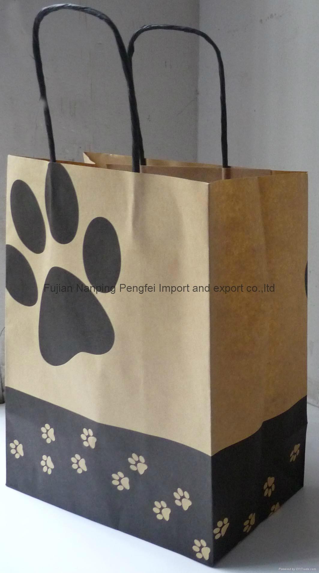 brown kraft paper bags-pet 1
