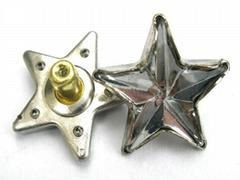Star Shaped acrylic stone rivet