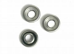 Semi-Tubular rivet washer