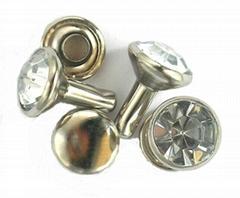 (DK)水钻包脚钉,压克力钻包脚钉,番石包脚钉,水钻撞钉