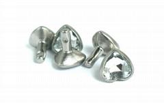 Heart shaped acrylic rivet