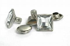 square Shaped acrylic stone rivet