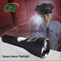 ex-proof led multifunction dvr police flashlight security camera
