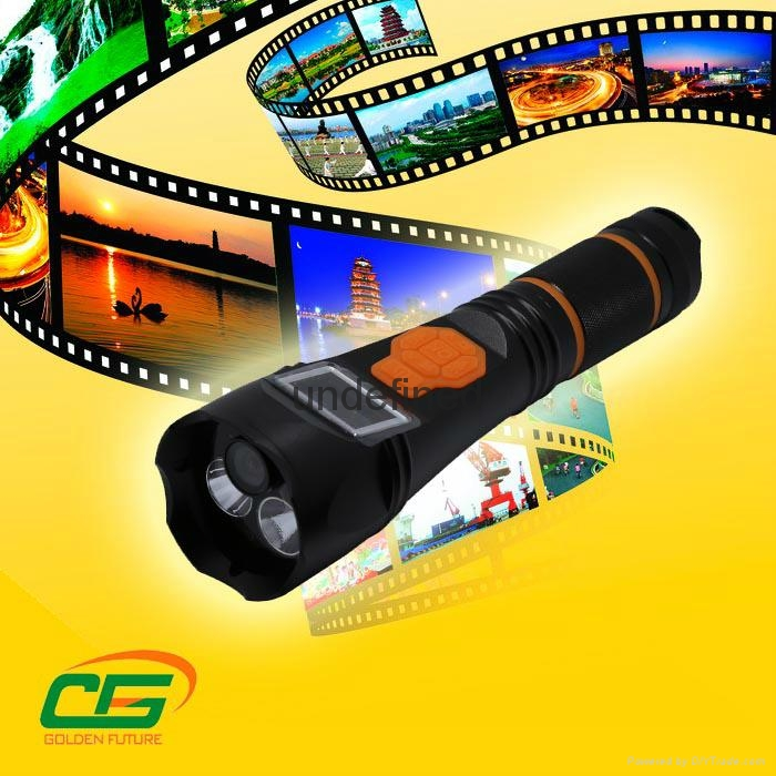 Multifunction led rechargeable different storage DVR recorder flashlight  4
