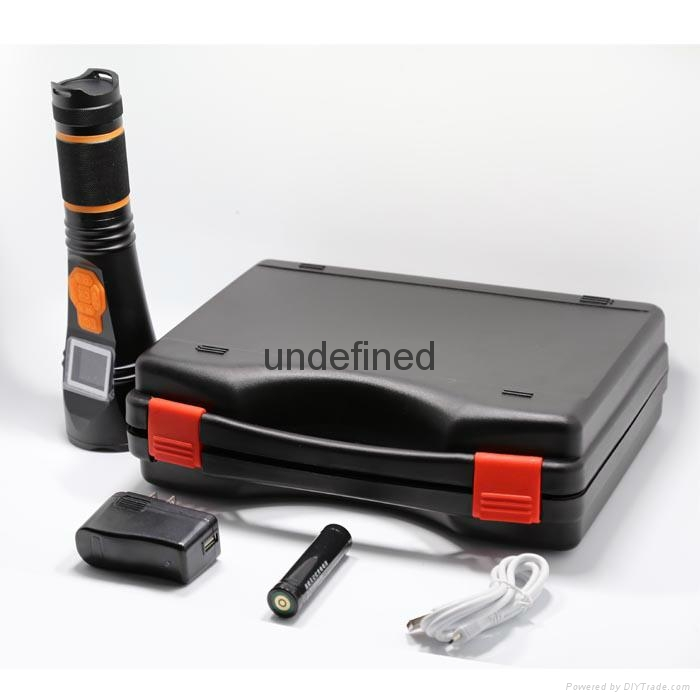 Multifunction led rechargeable different storage DVR recorder flashlight  3