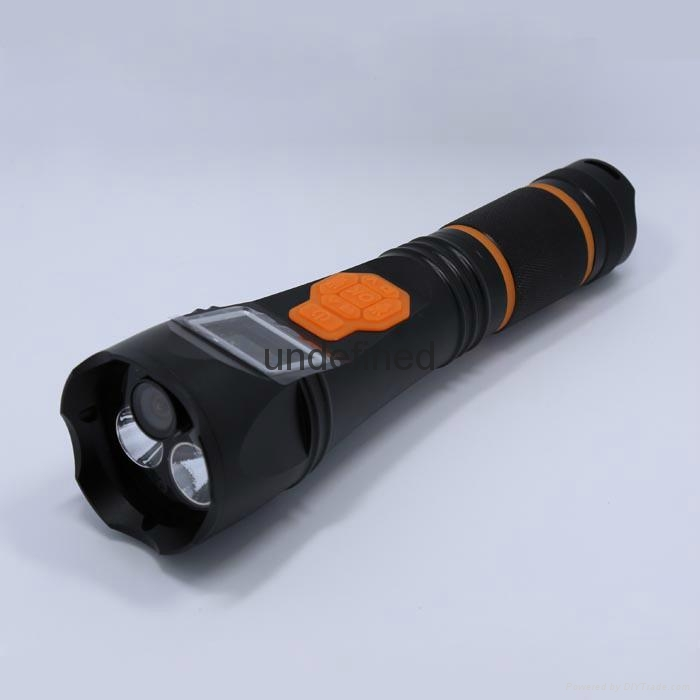 Multifunction led rechargeable different storage DVR recorder flashlight  2