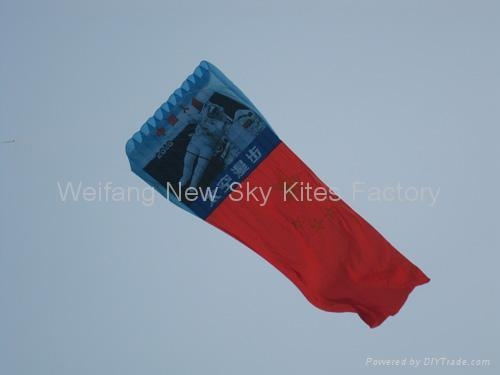 Advertising pilot (6x4.2M) with flag