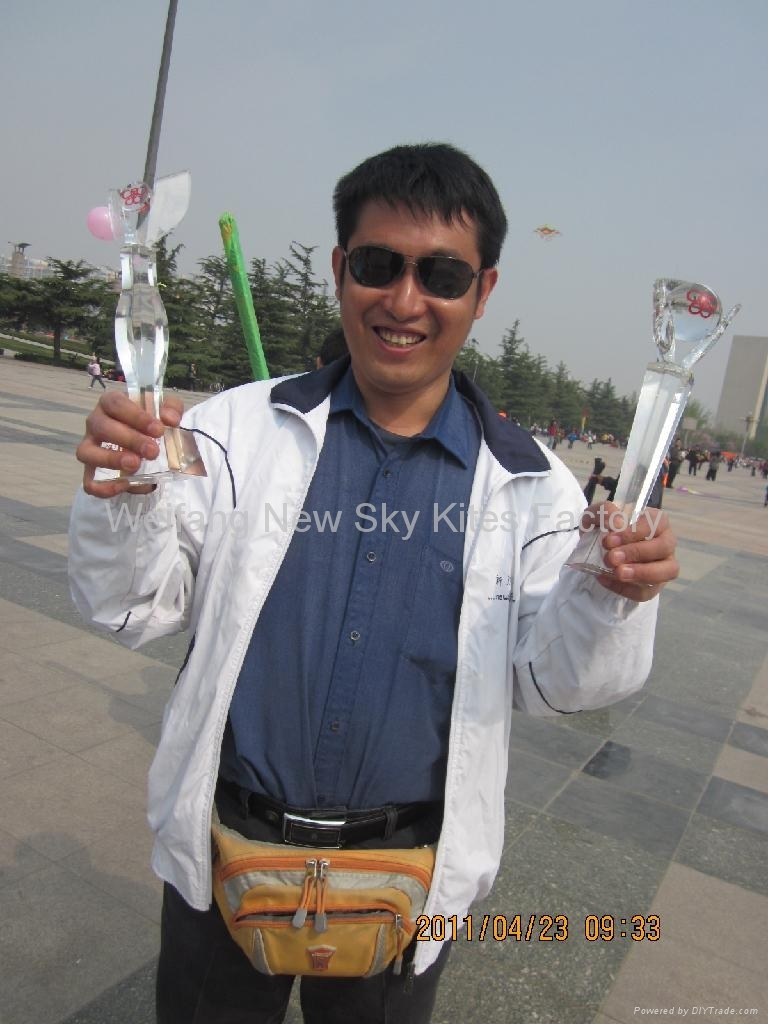 Win a price in Weifang kite festival (April,2011)