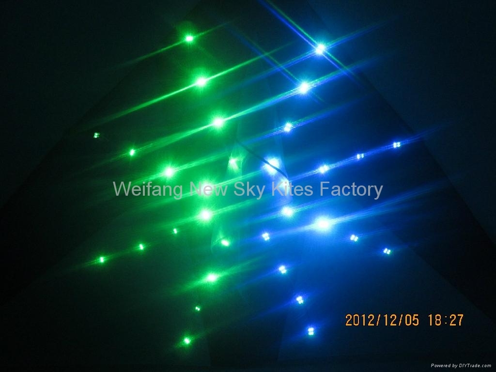 4206 Firework:2M2, ripstop nylon,carbon, 80 Bulbs,3.6V battery & charger