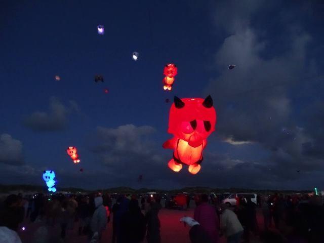 LED inflatable kite