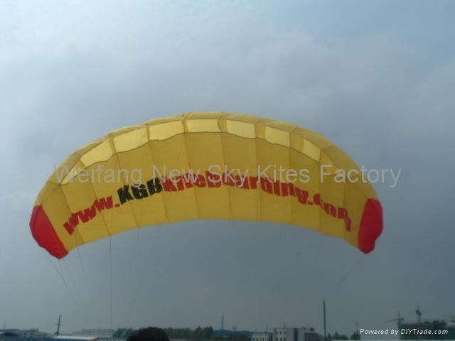 Parafoil advertising kite