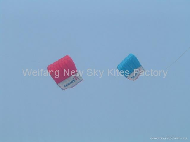 4x3M Pilot kite with a flag for advertising
