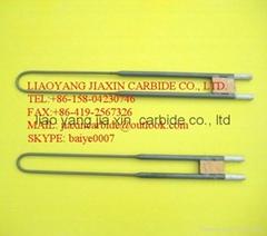 Molybdenum disilicide (MoSi2) heating elements