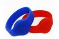 Silicone RFID tags, EM or MF wristband KC001