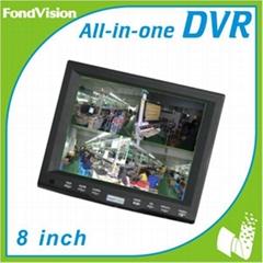 7 inch Digital LCD Monitor 4CH H. 264 Security DVR
