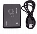 125Khz EM4100 USB RFID ID Card Reader Swipe Card Reader Plug and Play with Cable