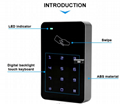 Factory price RFID touch Screen Standalone Access Controller in Access Control S