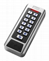metal access control with 2 relays to control 2 doors and supports 2000 users