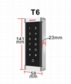 Digital backlist touch keypad access controller and reader