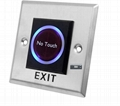 Infrared no touch exit button door switch release button