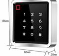 metal touch keypad waterproof anti alarm access control