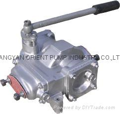 Semi rotary hand oil pump