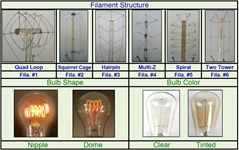Filament Structure and Bulb Shape