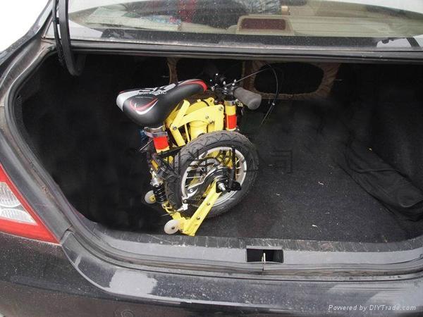 折疊起來最小的12寸自行車 2