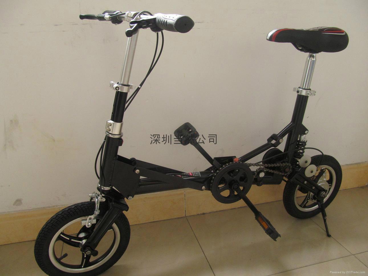 折疊起來最小的12寸自行車 5