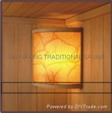 SAUNAKING sauna including safe lamp