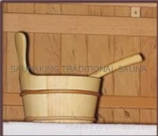 SAUNAKING sauna including BUCKET & LADLE