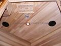 small corner Far Infrared Sauna with cedar wood
