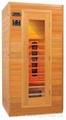 full wooden door far infrared sauna