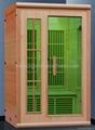 simple design with canada hemlock infrared sauna