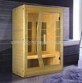 big glass door Far Infrared Sauna