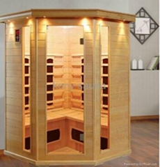 sell corner far infrared sauna room,5 person use