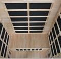 deep color corner cedar wood sauna from China