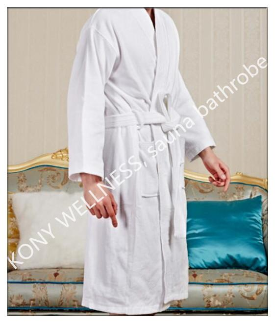 Customized cotton Sauna bathrobe from China 1