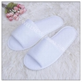 white microfiber sauna slipper from China