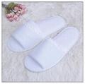 white microfiber sauna slipper from