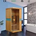 newest Far Infrared Sauna Room made of hemlock or cedar  2