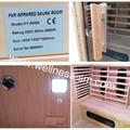 small corer far infrared sauna made of hemlock wood
