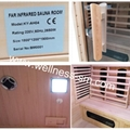 small coner sauna with combined heater