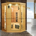 corner far infrared sauna room made in china